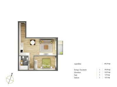 Vanzare apartament 2 camere Semicentral, Cluj-Napoca