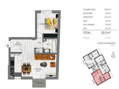Vanzare apartament 2 camere in Centru, Cluj-Napoca
