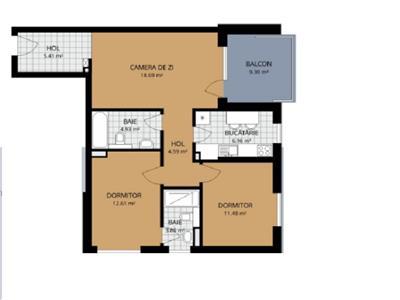 Vanzare apartament 3 camere in bloc nou zona Buna Ziua- Lidl