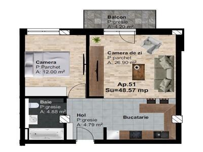 Vanzare apartament 2 camere zona Someseni, Cluj-Napoca