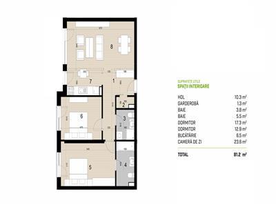 Vanzare apartament 3 camere The Office Central, Cluj Napoca